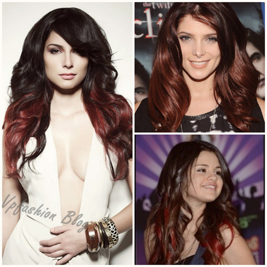 black to red ombre hairstylesBlack To Red Ombre