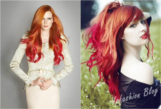Red And Blonde Hair Extensions 92