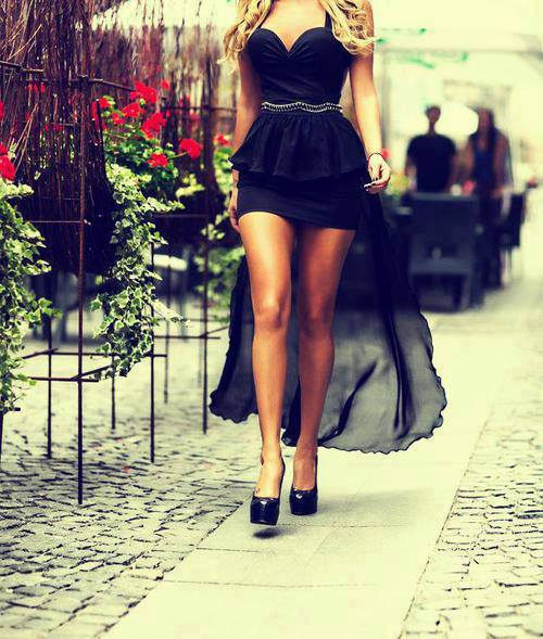 awesome, photography, cool, love, stylish, <3, black dress, little black dress, black, girl, cute, fashion, dress, glamour, hair, long, makeup, shoes, perfect, summer