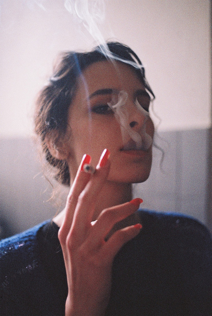 beautiful, brunette, classic, fashion, freedom, girl, love, smoke, vintage