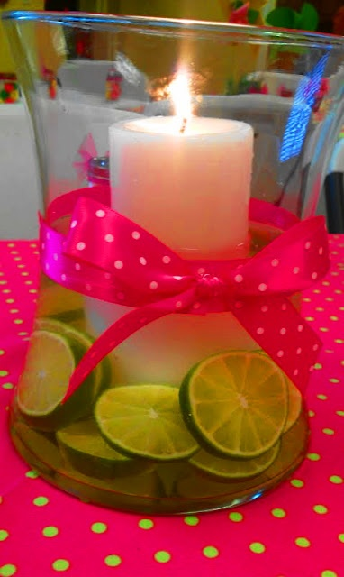 Easy pink and green centerpiece ideas for image