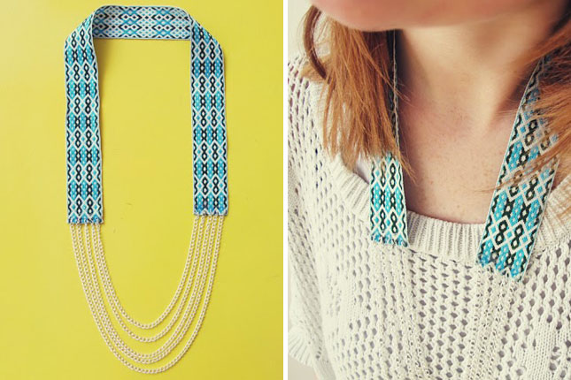 diy, necklace, tutorial and fiona paxton