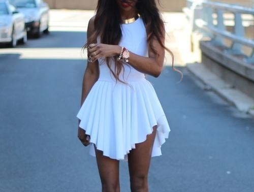 White skater dress outfit