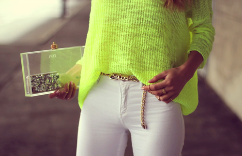 bag, belt, fashion, gold, outfit, ring, white