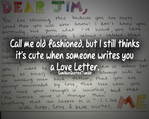 Cute Love Letter Old Fashioned Quote Relationship