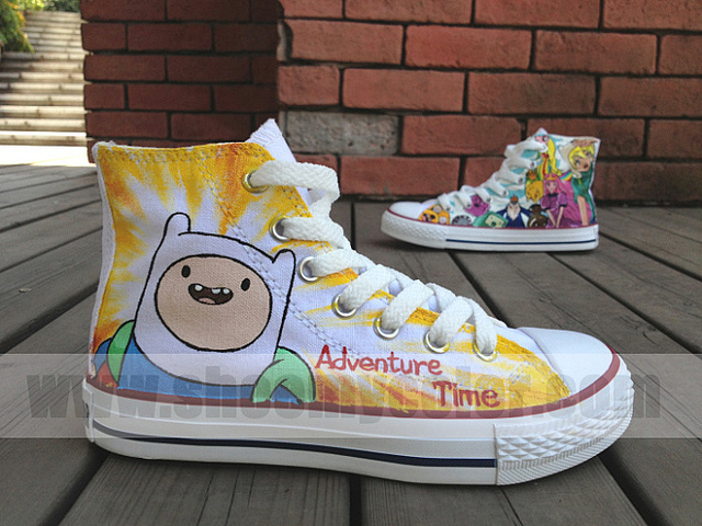 Adventure Time High Top Shoes