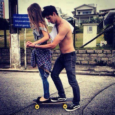 On skateboard girl cute