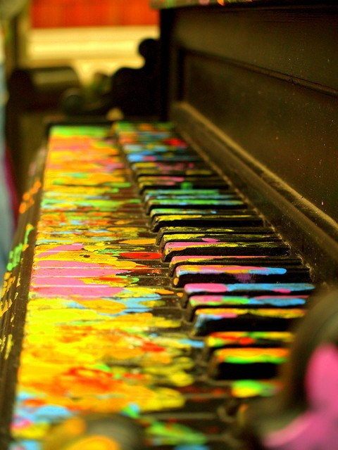 color, love, music, piano