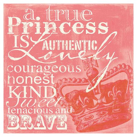 Girls Princess Warrior Quote Wall Art Print by ofCarola on ... |Princess Girlfriend Quotes