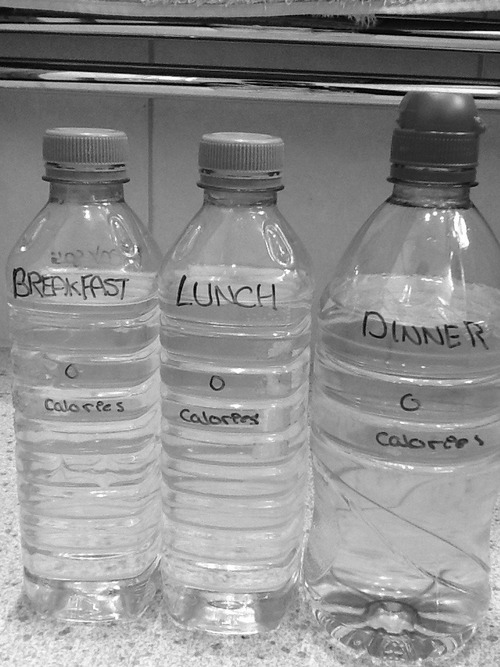 anorexia, breakfast, calories, miss skin and bones, dinner, skinny, water, lunch