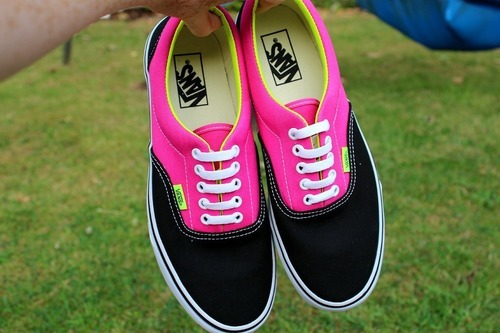 awesome, fashion, girl, vans, off the wall, shoes, pink, summer