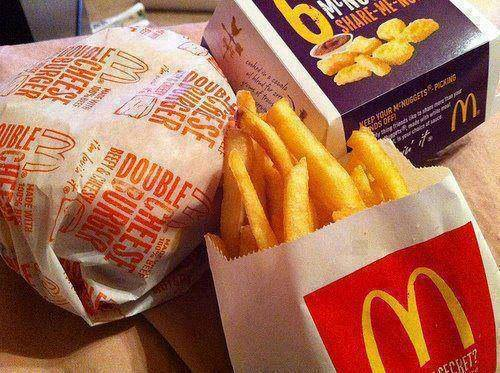 burger, chicken nuggets, food and fries