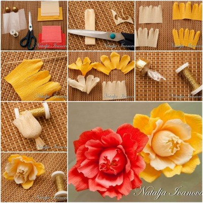 crepe paper roses instructions