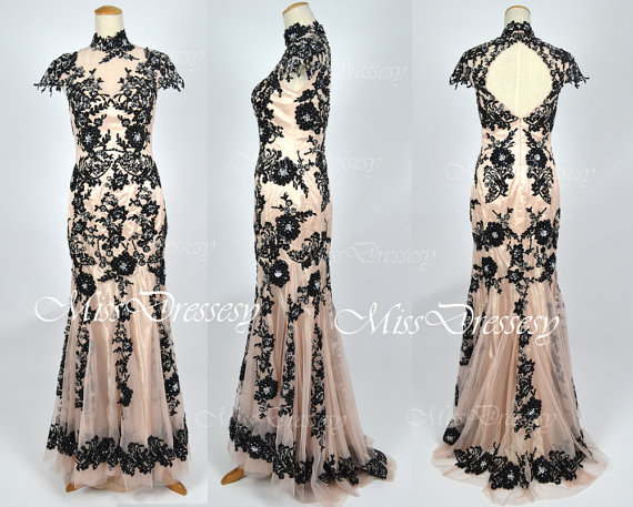 black prom dress, bridal, bridal gown and evening gown