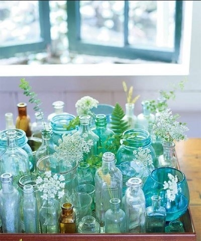 blue, girly, pretty and rustic