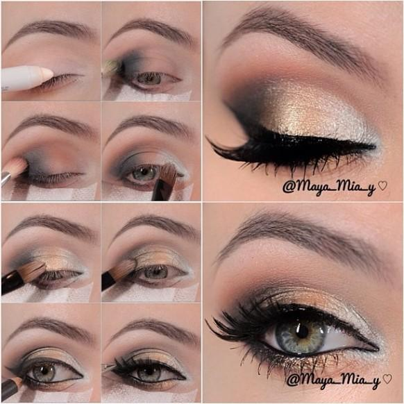 Gold Smokey Eye Bridal Makeup : http-,,weddbookcom,media,1927376,weddings ? Gold smokey ...