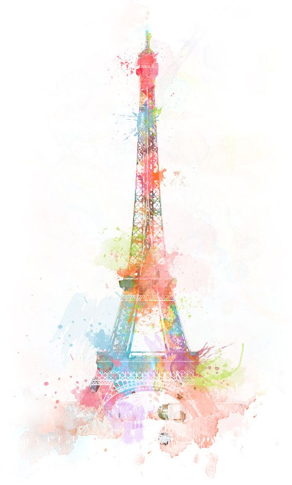 art, awesome, beautiful, colorful, eiffel, paris, watercolors