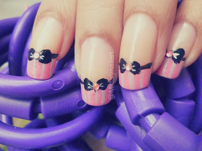 bow, cute, fashion, nail art, nail polish, nails, pink, unha decorada