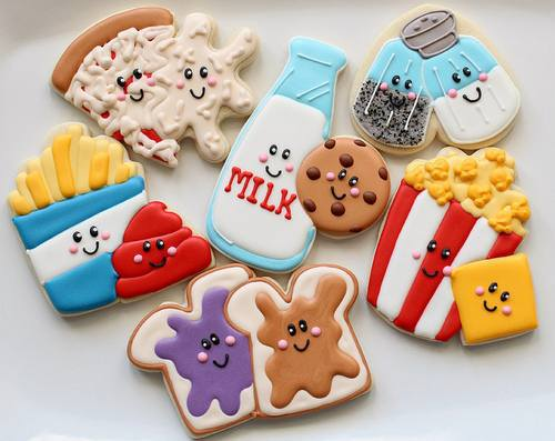 cookies, creative, cute and food love