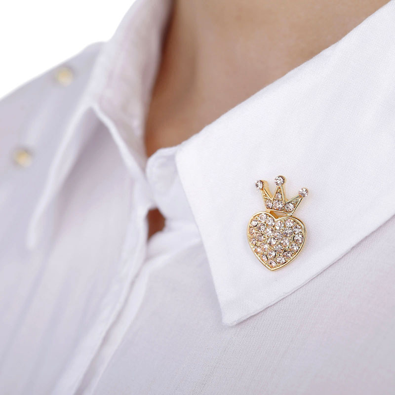 crown lapel pins, gold lapel brooches, gold lapel pins and heart lapel brooches