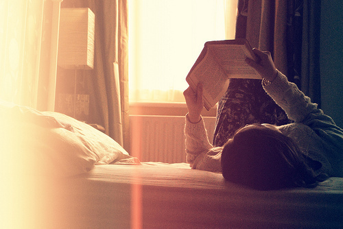 book, girl, happiness, reading, retro, sun, vintage
