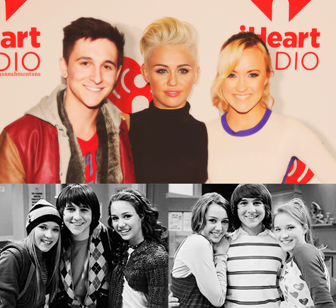 emily osment, hannah montana, miley cyrus and mitchel musso