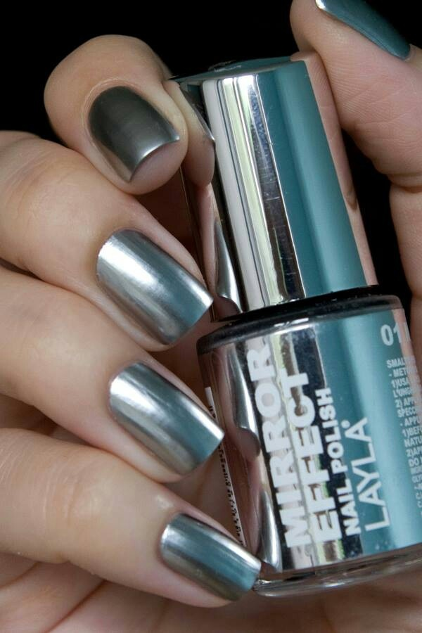 Layla mirror effect image 965480 by mollyroop on for Mirror nail polish