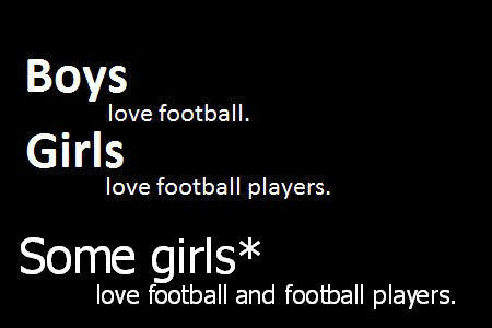 girls and boys in love playing football