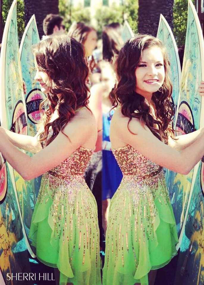 brooke hyland, dance moms, homecoming, prom, sequin, sherri hill, teen choice awards, teen choice awards 2013