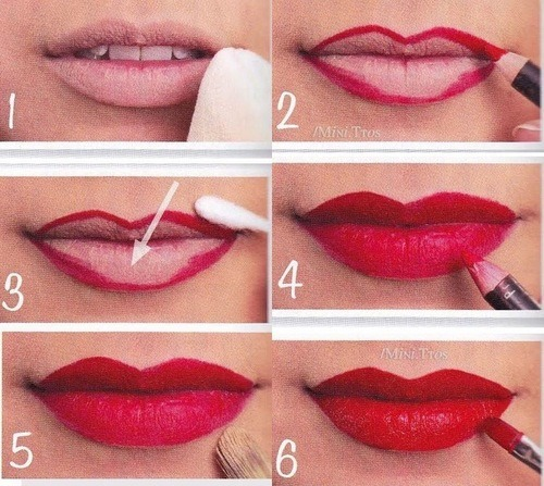diy, fashion, lipstick, lips, love, makeup, pretty, summer, tutorial