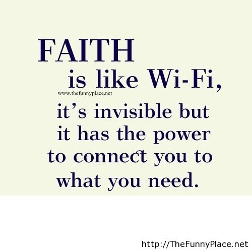 Funny Faith Quotes and Sayings