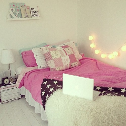 Tumblr image 980642 by korshun on for Cute girly bedroom ideas