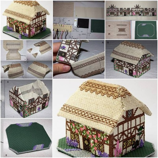 How to make decorative fabric house step by image for Step by step to build a house yourself