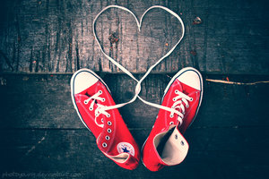 beautiful, converse, heart, love, red, shoes