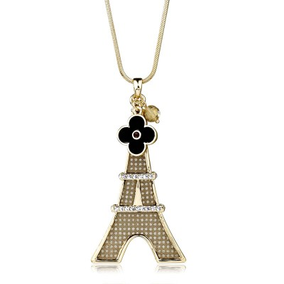 Eiffel Tower necklaces, Eiffel Tower pendant necklaces, rhinestone Eiffel Tower    pendants and flower Eiffel Tower necklaces