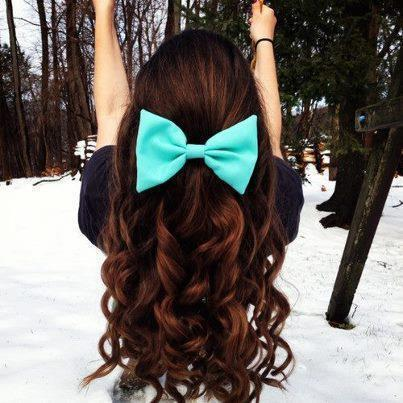 bow, brown, curls, girl, green, hair, long, pretty, snow, swing, winter
