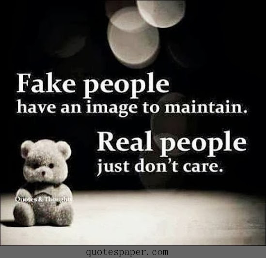 fake people and real people quotes about image