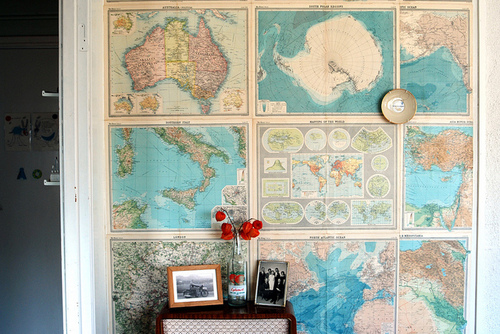 australia, flowers, italy, map, picture, pole, red, room, vintage, world