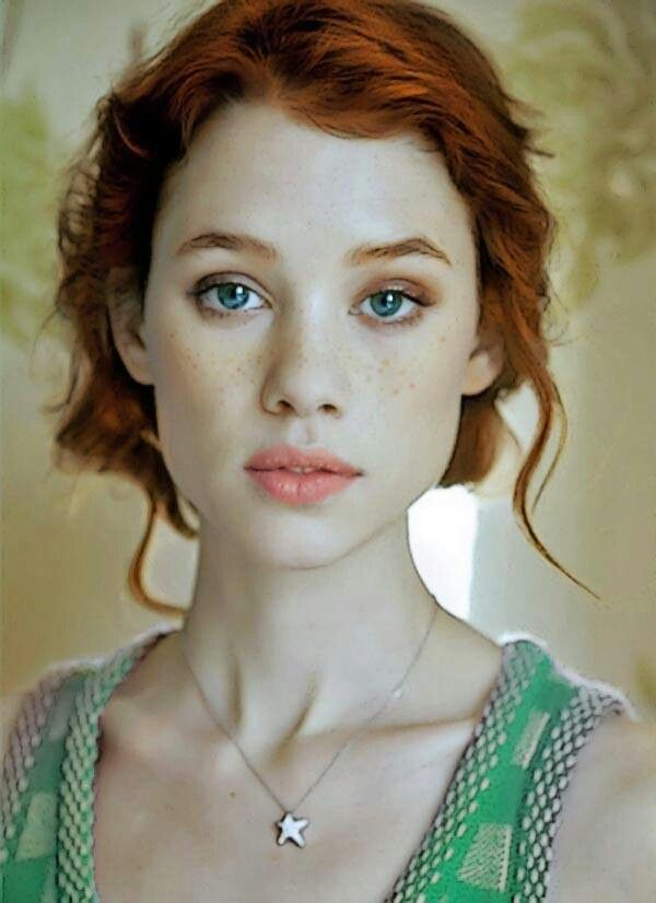 beautiful, blue eyes, freckles, ginger, ginger girl, redhead, redhead girl, astrid bergès-frisbey