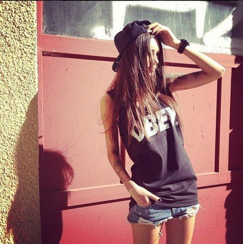 Swag Girl With Obey Cap