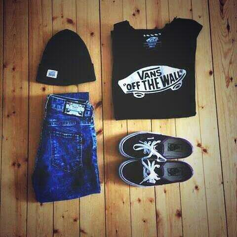 awesome, beanie, black, girl, jeans, sneakers, t-shirt, vans