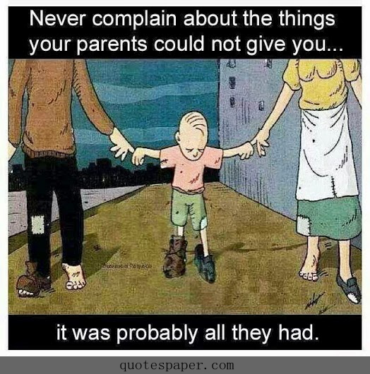 never complain about your parents quotes about image