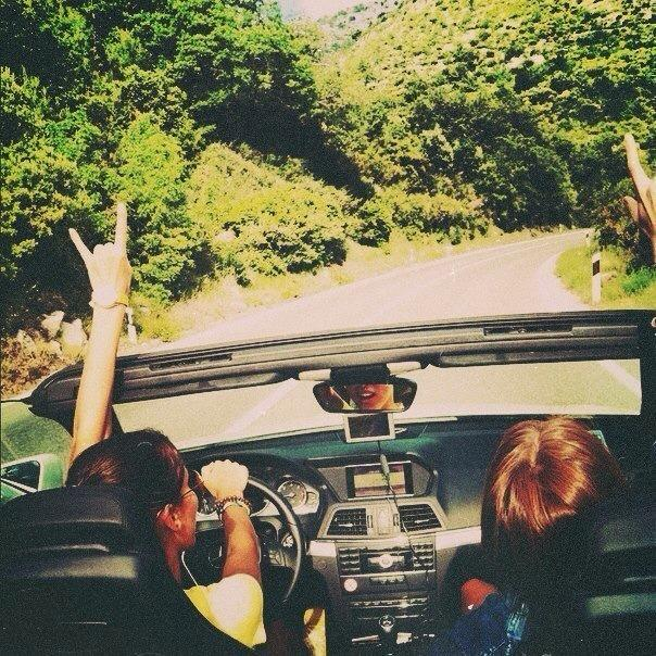 car, friends, girls and happyness
