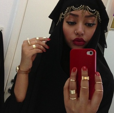 beautiful, girl, gorgeous, flawless, lip stick, beauty, jewelry, nose piercing, pretty, dope, rings, swag, arabic stayl