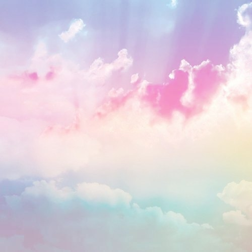 blue, clouds, pink and purple