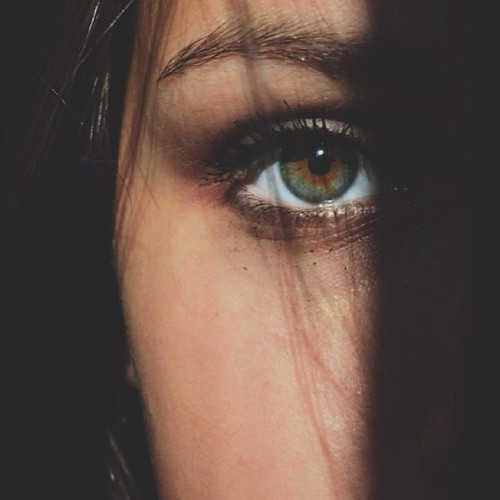 eyes, girl, green and pretty