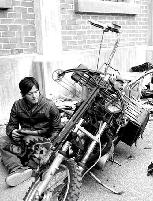 daryl dixon, motocycle, norman reedus and the walking dead