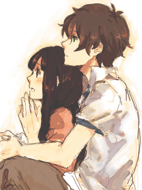 anime, couple, cute, kawaii, love