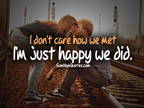 couple, cute, happy, kissing, love quote, railway track, romantic, sexy, swag, small cute love quotes