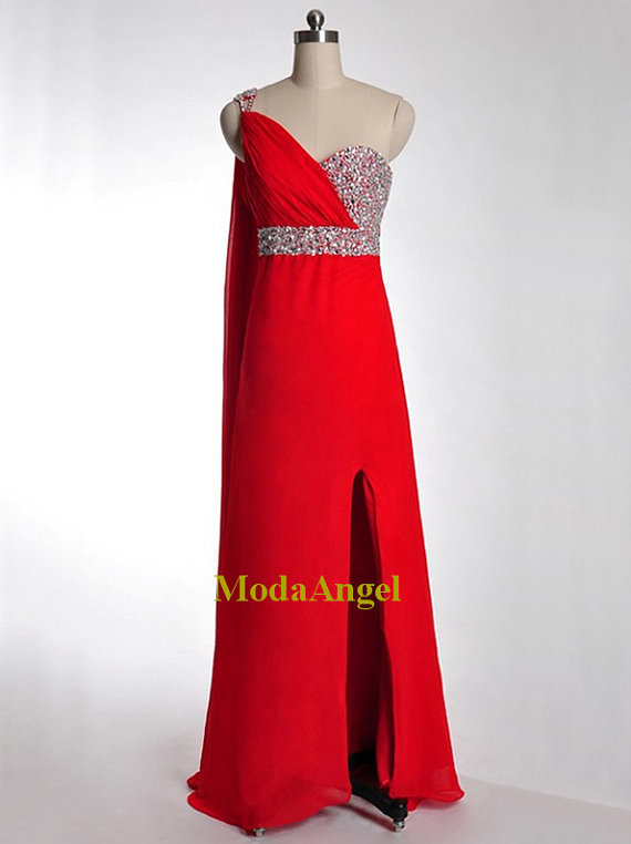 one shoulder dress, red long prom dress, red prom dress and red prom dresses